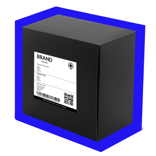 Package with shipping label
